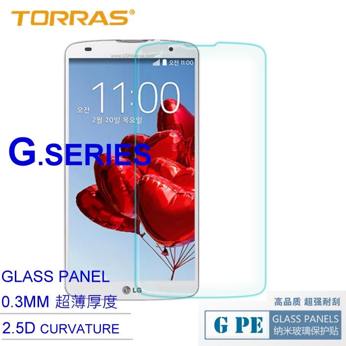 【TORRAS】 LG G Pro 2 (D838) 鋼化玻璃膜 G PE 系列 9H 奈米防爆裂玻璃保護貼