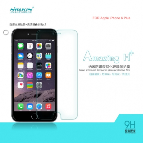 【NILLKIN】APPLE IPHONE 6 Plus (5.5) Amazing H+ 防爆鋼化玻璃貼 9H 0.3mm AGC玻璃 2.5D導角 (含鏡頭貼)