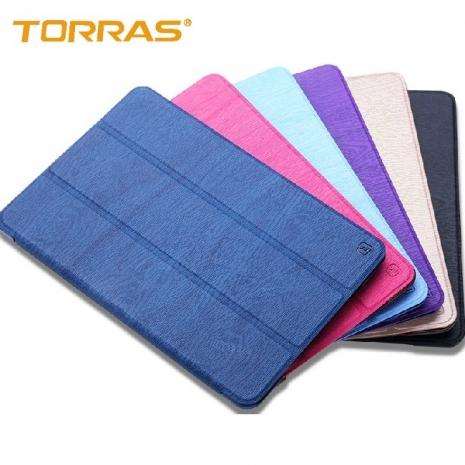 【TORRAS】APPLE iPad Mini2/Mini3 圖拉斯 超薄二代 森系列皮套 三折立架皮套 散熱透氣 智能休眠喚醒楓林紅