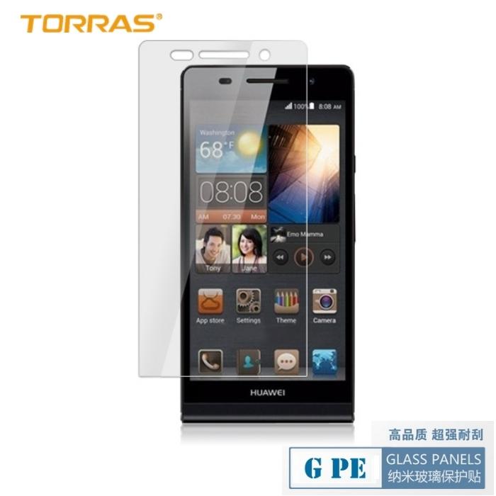 【TORRAS】HUAWEI Ascend P6 防爆鋼化玻璃貼 G PE 系列 9H硬度 超薄日本AGC玻璃 2.5D弧面切割