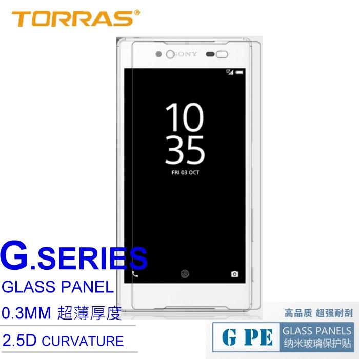 【TORRAS】SONY Xperia Z5 E6653 防爆鋼化玻璃貼 G PE 系列 9H硬度 超薄日本AGC玻璃 2.5D導角