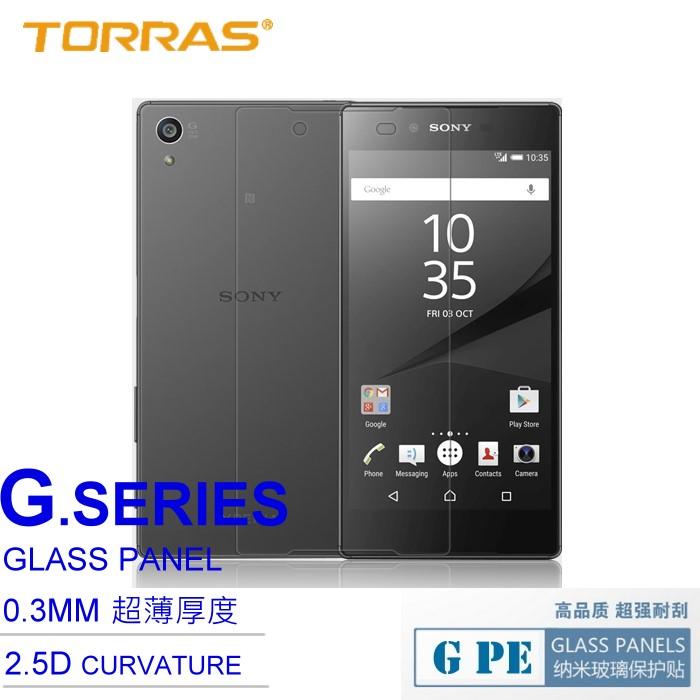 【TORRAS】SONY Xperia Z5 Premium 防爆鋼化玻璃貼 G PE 系列 9H硬度 超薄日本AGC玻璃 2.5D導角