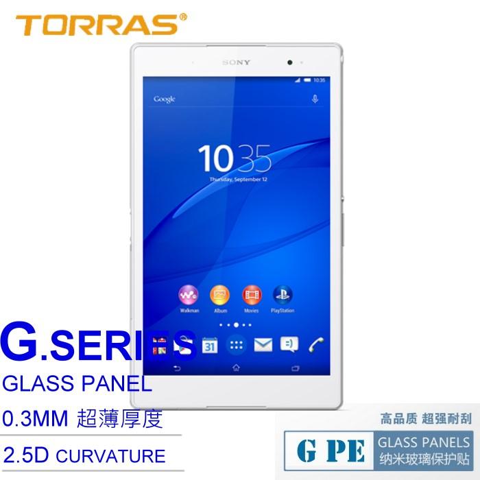 【TORRAS】Sony Xperia Z3 Tablet Compact 防爆鋼化玻璃貼 G PE 系列 9H硬度 超薄日本AGC玻璃 2.5D導角