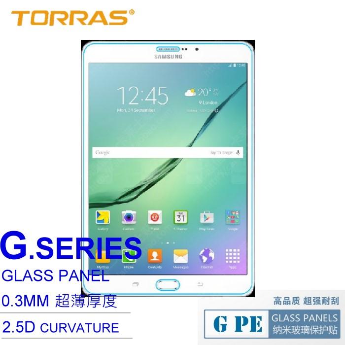 【TORRAS】Samsung Galaxy Tab S2 T710 (8吋) 防爆鋼化玻璃貼 G PE 系列 9H硬度 超薄日本AGC玻璃 2.5D導角