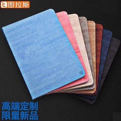 【TORRAS】APPLE iPad Air/Air2 圖拉斯 岩系列皮套 獨家皮紋 二段定位立架 智能休眠 送保貼卵石紅 air2