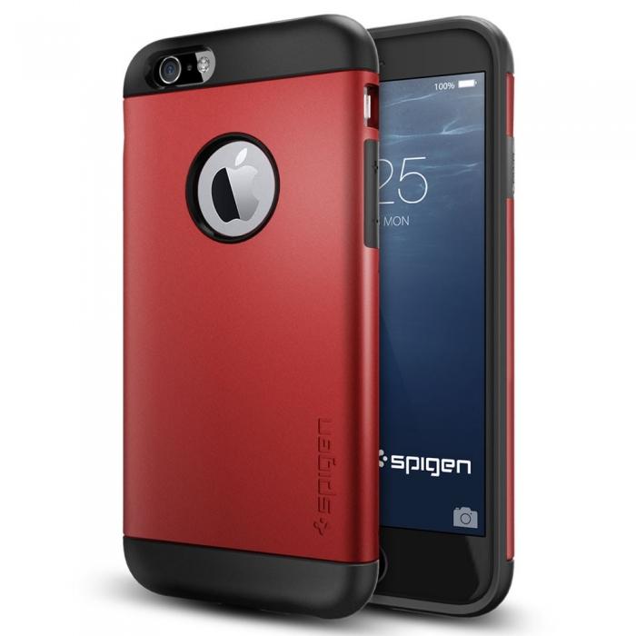 【SGP/Spigen】iPhone 6 (4.7吋) Slim Armor 雙層吸震保護殼 (紅)