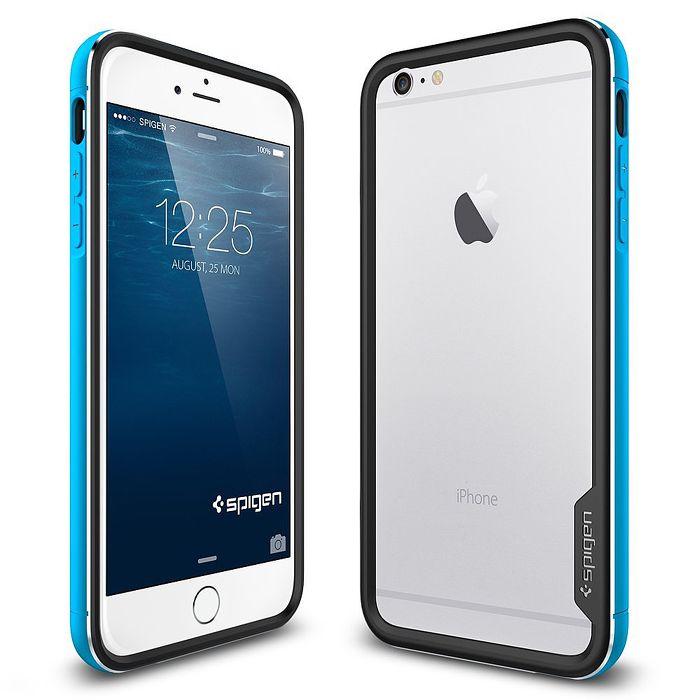 【SGP/Spigen】iPhone 6 (4.7吋) Neo Hybrid EX Metal 經典金屬邊框手機殼(極光藍)