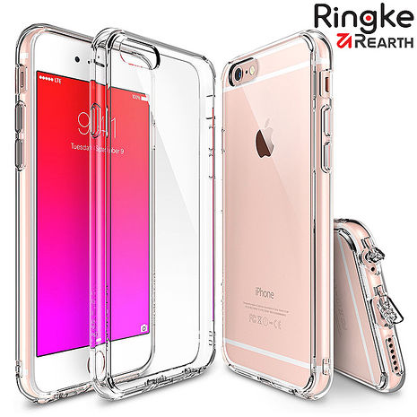 【Rearth Ringke】iPhone 6S/6/6S Plus/6 Plus 適用 Fusion 透明背蓋手機保護殼5.5吋-透明