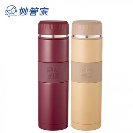 【妙管家】316超級不鏽鋼460ml真空保溫杯 紅