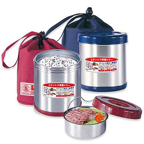 【寶馬】0.85L不鏽鋼附提袋真空保溫便當盒 SHW-GL-850