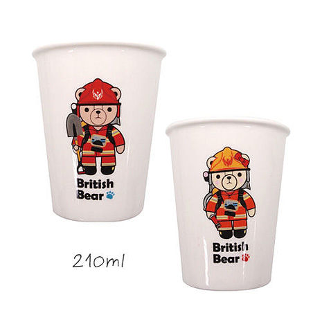 【英國熊】210ml消防員職業瓷杯2入DL-0008