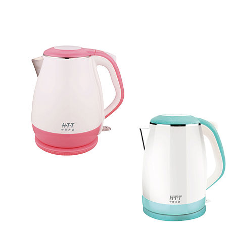 福利品 HTT 304不鏽鋼雙層防燙快煮壺1.2L HTT-1811