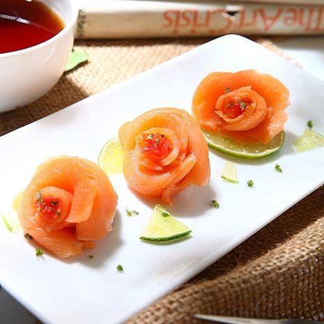 【華得水產】煙燻鮭魚片 10件組(100g/包)~(贈送 鮪魚生魚片600g)