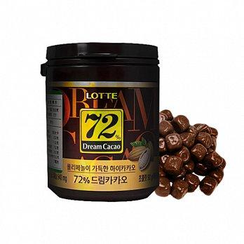 【韓璧食府】 樂天 LOTTE 72%純黑巧克力3入組(90g*3)