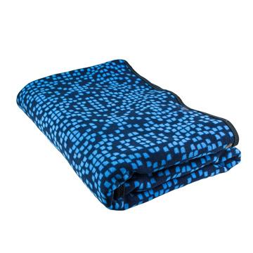 【點子樂活】頂級雙面法蘭絨披肩毯(藍色格子)