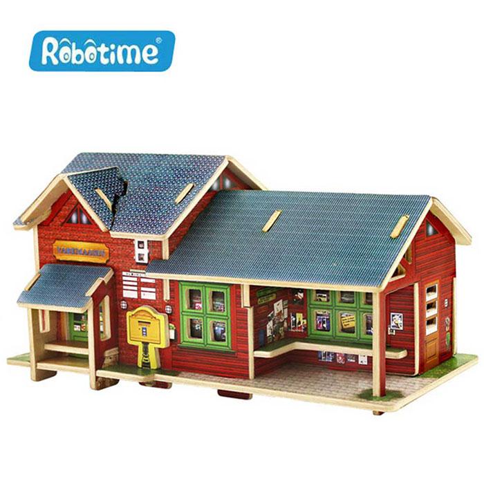 【Robotime】DIY木質3D立體拼圖-挪威商店