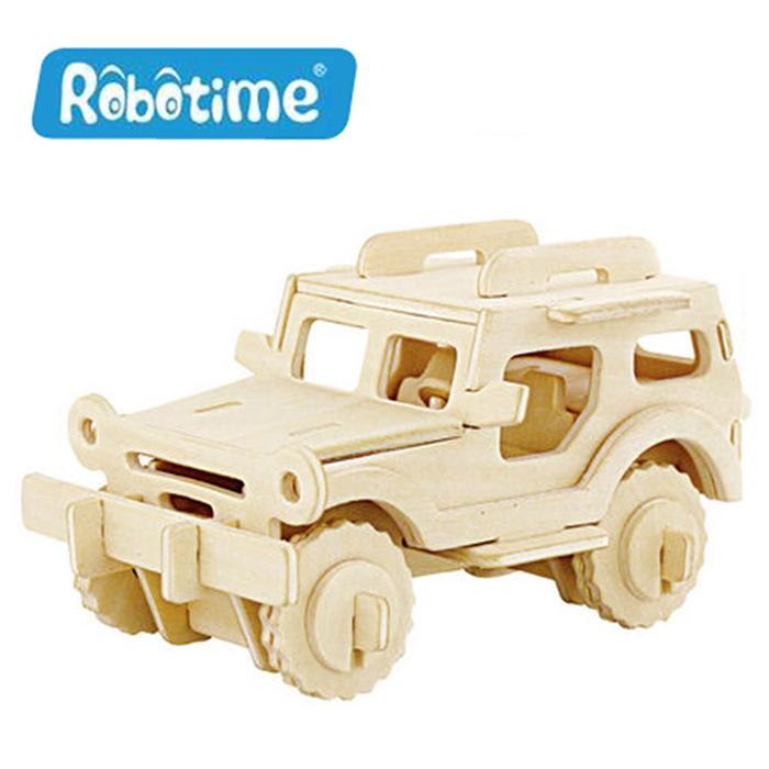【Robotime】DIY木質3D立體拼圖-吉普車-居家日用.傢俱寢具-myfone購物