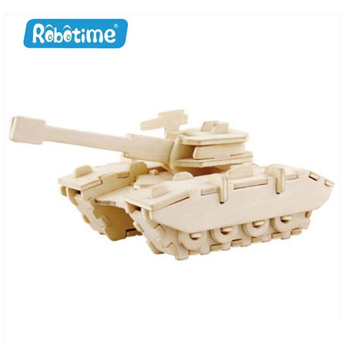 【Robotime】DIY木質3D立體拼圖-坦克-居家日用.傢俱寢具-myfone購物