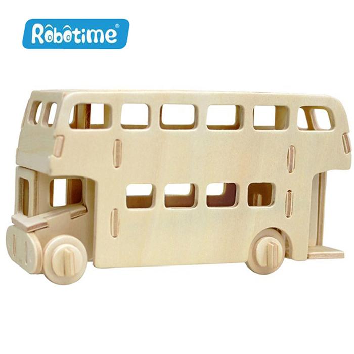 【Robotime】DIY木質3D立體拼圖-倫敦巴士-居家日用.傢俱寢具-myfone購物