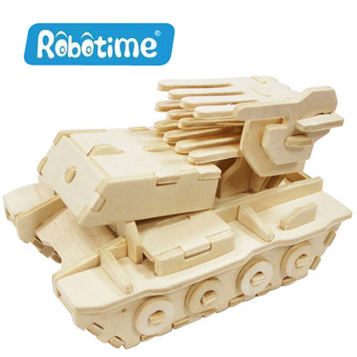 【Robotime】DIY木質3D立體拼圖-自行火箭炮
