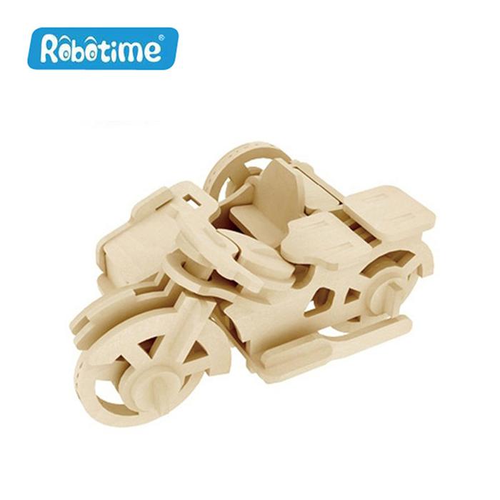【Robotime】DIY木質3D立體拼圖-三輪摩托-居家日用.傢俱寢具-myfone購物