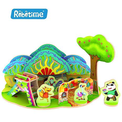 【Robotime】DIY木質3D立體拼圖-森林幼兒園