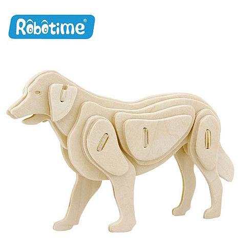 【Robotime】DIY木質3D立體拼圖-狗-居家日用.傢俱寢具-myfone購物