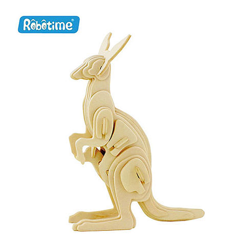 【Robotime】DIY木質3D立體拼圖-袋鼠-居家日用.傢俱寢具-myfone購物