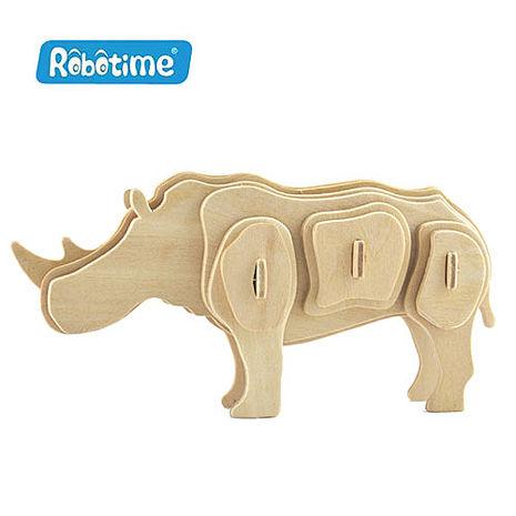 【Robotime】DIY木質3D立體拼圖-犀牛-居家日用.傢俱寢具-myfone購物