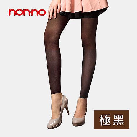 【non-no儂儂】透膚極黑九分褲襪3入組
