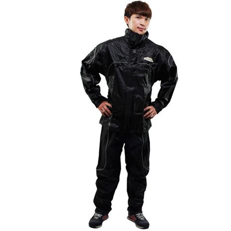 天龍牌新重裝上陣F1機車型風雨衣- 黑色XL