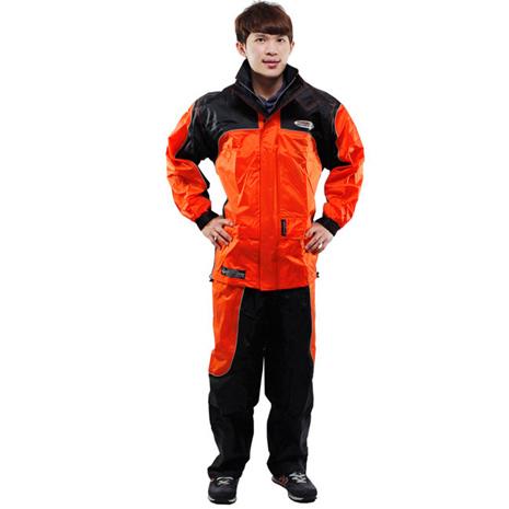 天龍牌新重裝上陣F1機車型風雨衣- 橘色