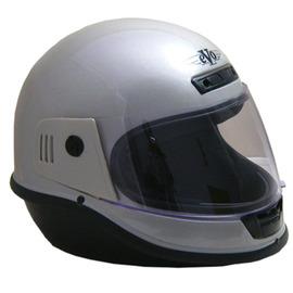 EVO台製素面全罩式機車安全帽- 灰銀