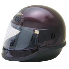 EVO台製素面全罩式機車安全帽- 酒紅