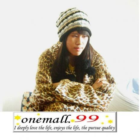onemall.99雙面超細纖維創意袖毯*豹紋/蘇格蘭*