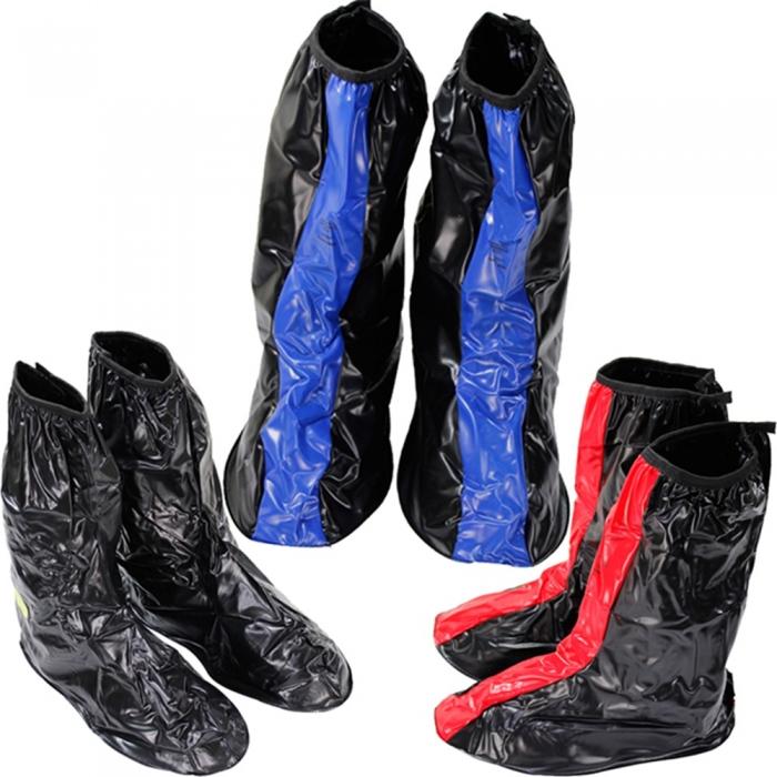 天龍牌超跑賽車型雨鞋套全黑XL