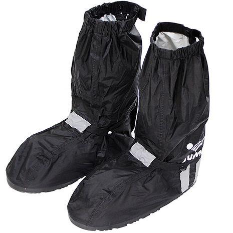 JUMP新一代反光厚底雨鞋套-黑色M