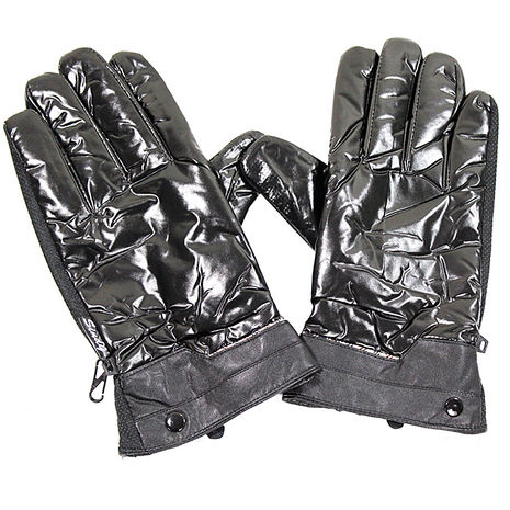 omax多款式防寒防滑珠光手套-男灰色