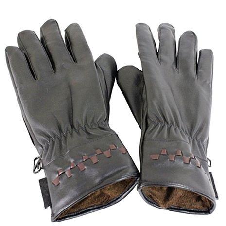 omax多樣式防風潑水止滑pu皮手套-男