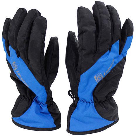omax超輕柔防寒防水手套-藍色