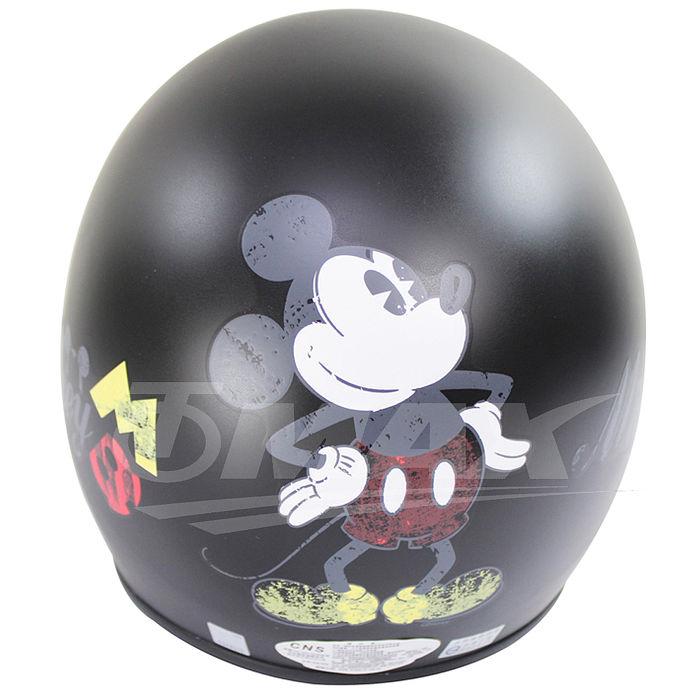 米奇全可拆半罩式機車安全帽-黑色+抗uv短鏡片+6入安全帽內襯套