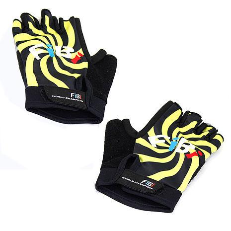 omax風火輪萊卡半指手套-黃色