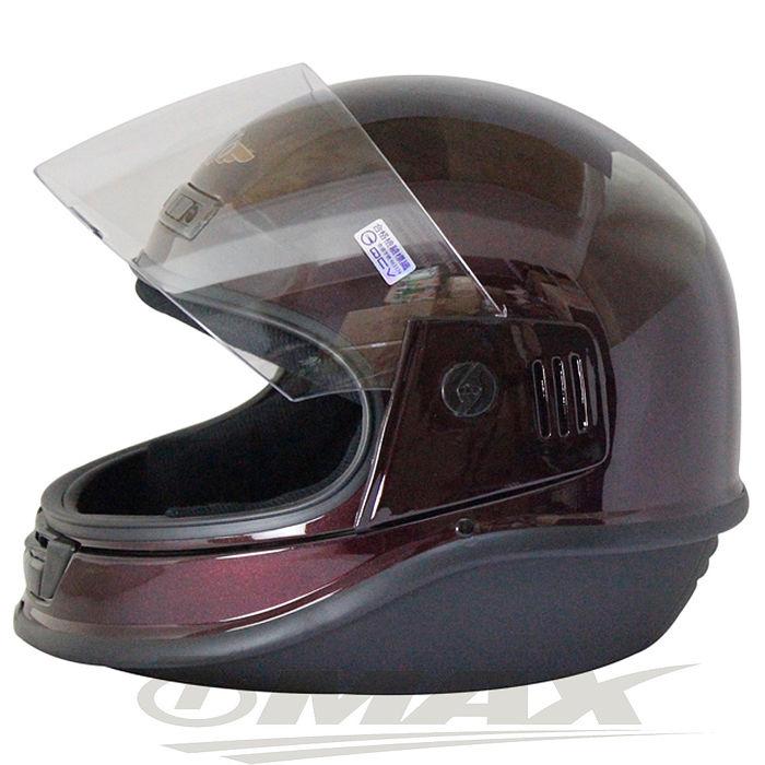 EVO全罩式安全帽-酒紅色+6入不織布內襯套