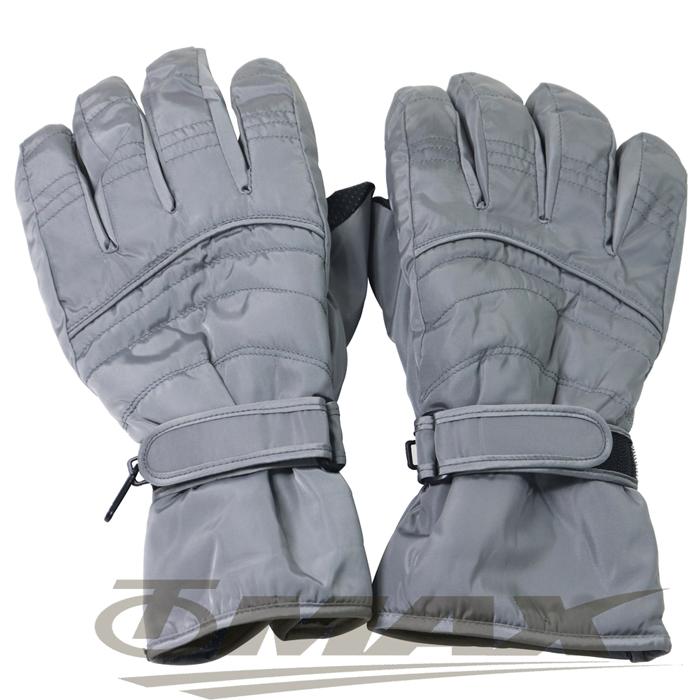 OMAX帥氣防寒防潑水機車手套-男用-灰色