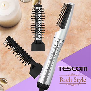 TESCOM俏麗三件式整髮梳ACC11