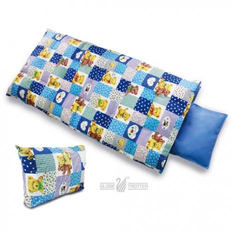 【遊遍天下】MIT台灣製兒童羽毛絨睡袋(藍色大熊)