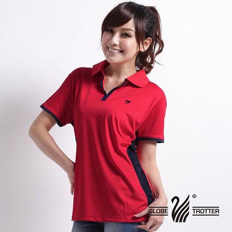 【遊遍天下】女款時尚休閒抗UV吸濕排汗機能POLO衫MS009紅-服飾‧鞋包‧內著‧手錶-myfone購物