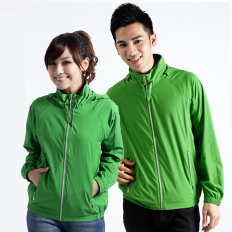 【遊遍天下】MIT台灣製中性款抗UV防風機能連帽外套A020草綠
