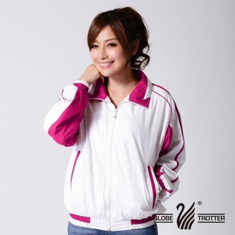 【遊遍天下】中性款抗UV防風機能薄外套1011白/粉紅-服飾‧鞋包‧內著‧手錶-myfone購物