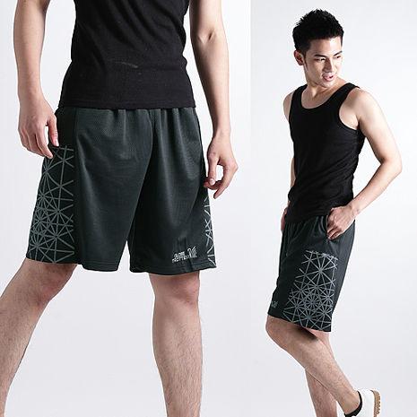 【遊遍天下】MIT台灣製男款時尚休閒運動短褲P121A黑/灰